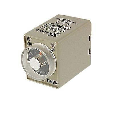 AC 110V Power on Delay Timer Time Relay 0~30 Second AH3-3 DPDT 8 Pin New
