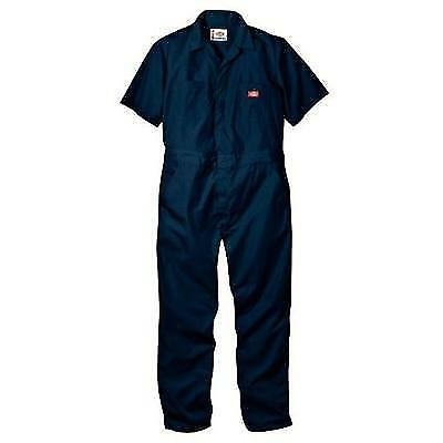 Dickies Men's Short Sleeve Coverall, Dark Navy, X-Large Short New