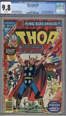 Thor Annual #6 Cgc 9.8 White Pages