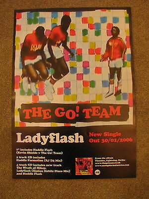 The Go Team - Ladyflash - PROMO POSTER