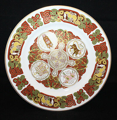 """Spode Celtic The Durrow Plate 27cm 10.5"""" Gold Trim Bone China Made in England"""