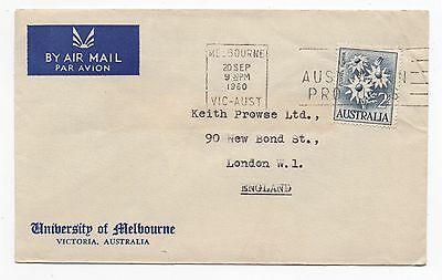 1960 AUSTRALIA Air Mail Cover MELBOURNE To LONDON University COMMERCIAL Slogan