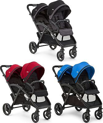 Joie EVALITE DUO TWIN STROLLER Double Buggy/Pushchair Baby/Toddler 0m+ BN