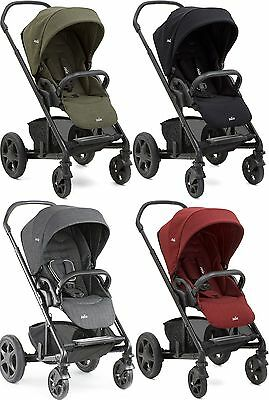 Joie CHROME DLX PUSHCHAIR Stroller/Buggy w/Footmuff Baby/Toddler Travel BN