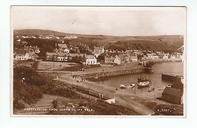 Portpatrick From North Cliff Walk Wigtown 1939 Real Photograph Valentines A8597