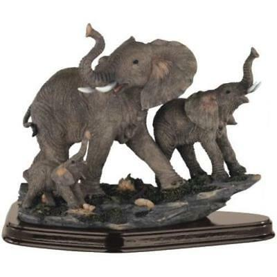 StealStreet SS-G-54070, Family of Wild Elephant Animals Figurine Statue