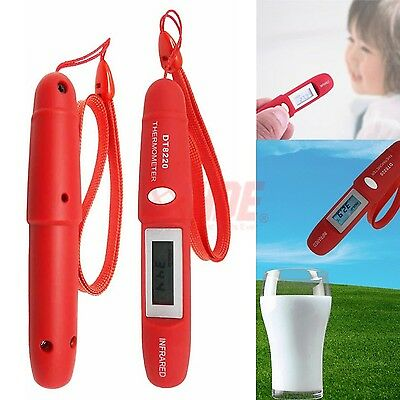 Digital Thermometer Pen Type Non-Contact LCD Infrared Remote Body Temperature