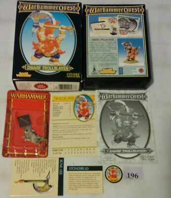Warhammer Quest DWARF TROLLSLAYER expansion character add-on 1995, BOX Complete