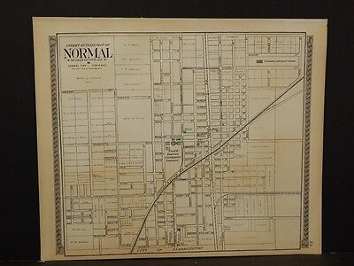 Illinois, McLean County Map, 1914, City of Normal, 2 Double Pages & Sided, J5#60