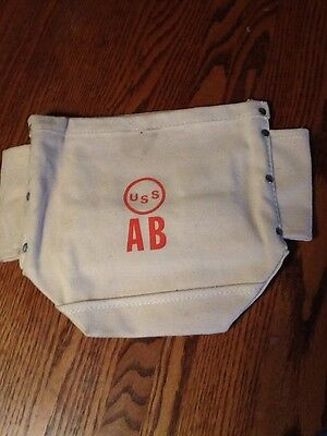 Vintage American Bridge Uss Toll Belt Bolt Bag, Excellent Unused Condition