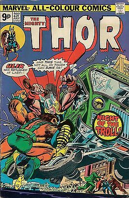 THOR # 237  MARVEL COMICS  1975  fine
