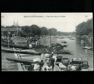 View from Red Lion Hotel Henley on Thames LL Postcard