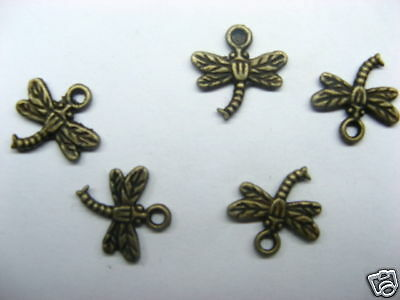 400 Bulk Copper Dragonfly Pendants Jewelry Charms