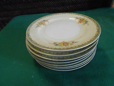 Beautiful KIKUSUI Fine China Dinnerware ....Set of 8 BREAD-SALAD-DESSERT Plates