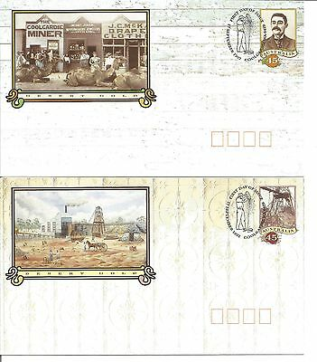 Australia Pre Paid Covers with FDI post Marks- 1992 Desert Gold