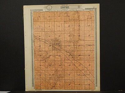 Illinois, McLean County Map, 1914, Township of Empire & Yates, 2 Sides, J5#73