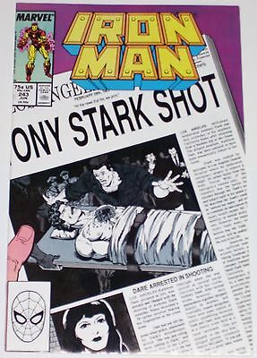 Iron Man #243 from June 1989 VF+ to NM-