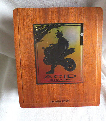 Drew Estate Acid Route 10 Quality Wood Cigar Box  - Beautiful!