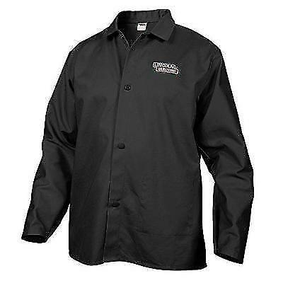 Lincoln Electric Black X-Large Flame-Resistant Cloth Welding Jacket New