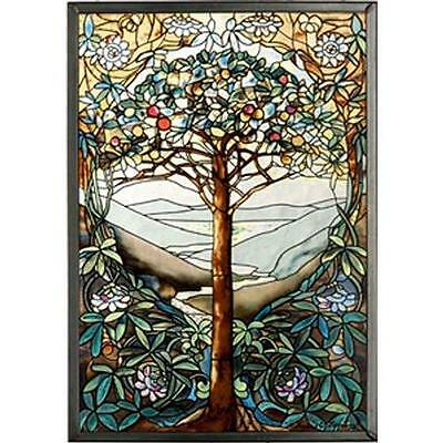 MI Hummel/Glassmasters 9-1/4 by 13-1/4-Inch Tree of Life Stained Glass Panel New