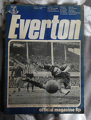 Everton v Coventry City 1973