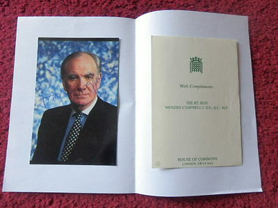 Menzies Campbell Politician Autographed Photo