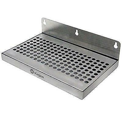"Beer Drip Tray 10"" Stainless Steel Wall Mount No Drain New"