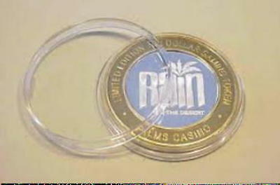 """Genuine  """"AIR-TITE""""  Clear Holders for $10 Silver Strike Gaming Tokens  US~Made"""