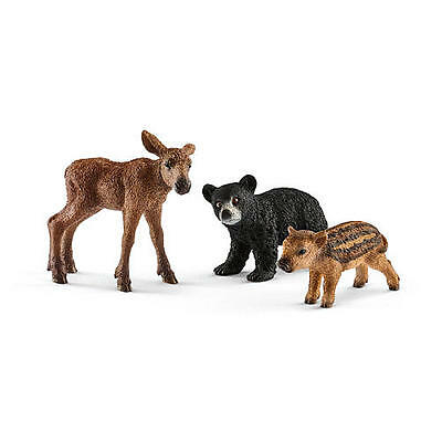 New Schleich Forest Animal Babies Playset Model:25397078