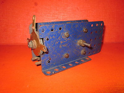 Meccano Vintage Blue Extended  Electric Motor
