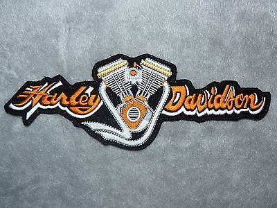 HARLEY DAVIDSON Vtwin Iron on/ Sew on Patch Biker Motorcycle