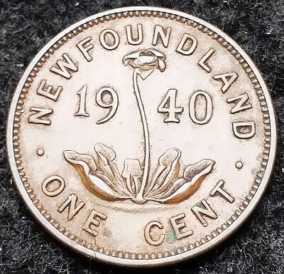 1940 Newfoundland Canada Small Cent - One Penny - Nice Grade - Free Combined S/H
