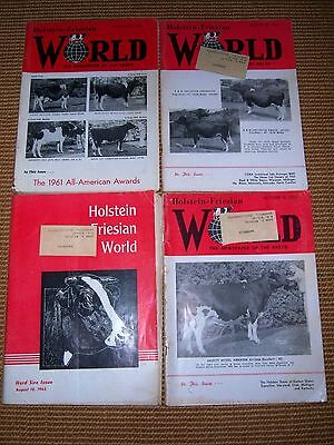 Lot Of 4 Holstein Friesian Magazines 1962 Milk Cows, Cattle (2)