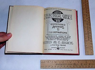 HAWKINS ELECTRICAL GUIDE No 8 - 1929 - illustrated Book - steam punk