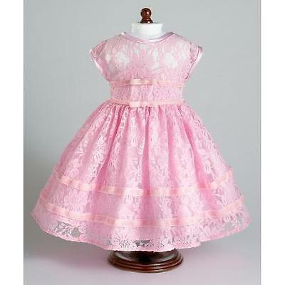 """Pink Lace Party Dress ~ Fits 18"""" American Girl Dolls New"""