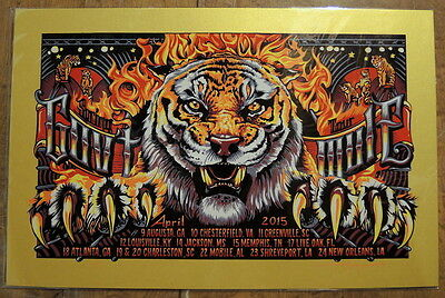 Gov't Mule - Gold Pearl Variant - #3/5 - Spring Tour- 2015 - A J Masthay -Poster