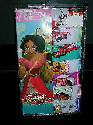 "L@@k   Disney's ""Elena of Avalor""  GIRLS  UNDERPANTS/PANTIES  SIZE  2T/3T  NWT"