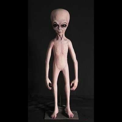 Alien-Foam-Filled-Prop-Lifesize-UFO-Roswell-Martian-Halloween decor statue