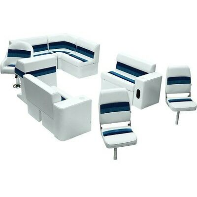 MARINE fishing Pontoon  boat Seat seats SET FURNITURE Package pick your color