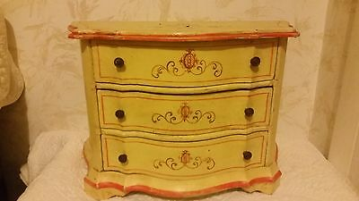 3-Drawer Antique Dresser Made In Italy Victorian Childs Salesman Sample ??