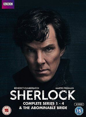 SHERLOCK Complete Seasons Series 1, 2, 3, 4 & the Abominable Bride DVD Box Set