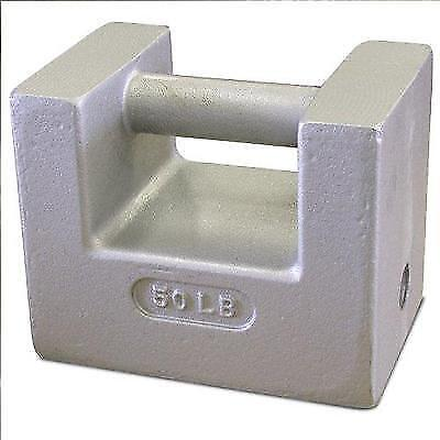 Rice Lake 12839 Cast Iron Painted Grip Handle Test Weight, 50lb Mass, NIST New