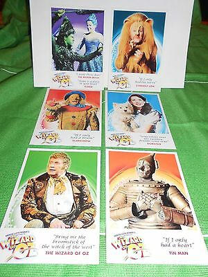 6 Assorted The Wizard of Oz Musical Postcards