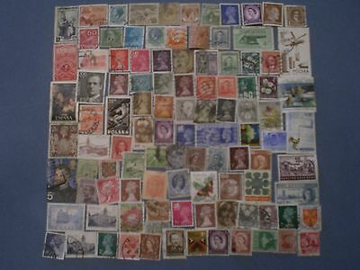 Pile of  Used Worldwide Stamps