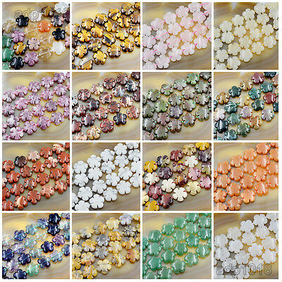20mm Natural Gemstone Flower Shape Loose Beads 10PCS Jewelry Design Pick Stone