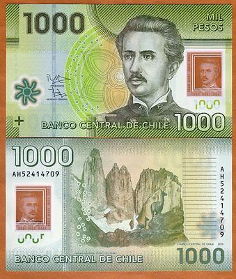 Chile 1000 (1,000) Pesos, 2015 (2017) Polymer Pick 161-New Date UNC