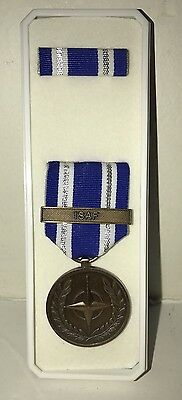 MILITARY  U.S. Non-Article 5 NATO Medal ISAF  Afghanistan with RIBBON & Bar NWB