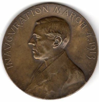 1913 President Woodrow Wilson Official Inaugural Medal