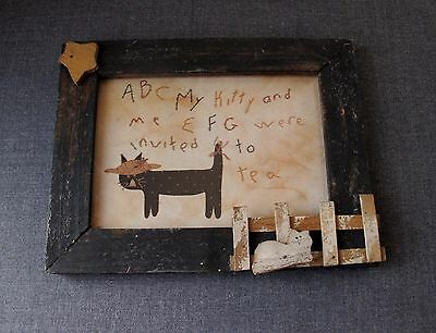 Vintage Kitty & Me Picture Wooden Cat Best Friends Frame By Jamie Magreevy