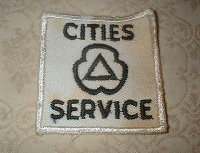 Vintage Cities Service Gas & Oil Service Station Embroidered Emblem Patch ~ Nos